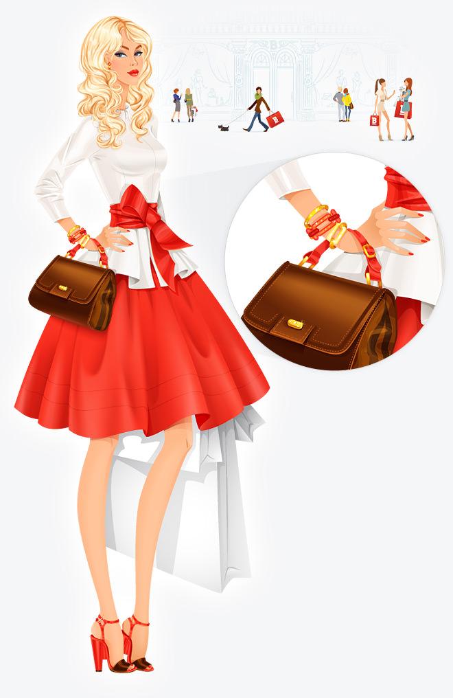 розробка ілюстрації для магазину брендового одягу